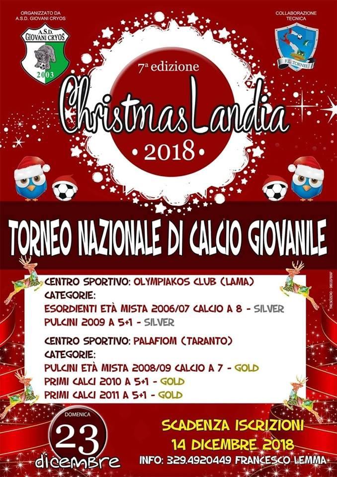 Locandina eventi Christmaslandia 2018