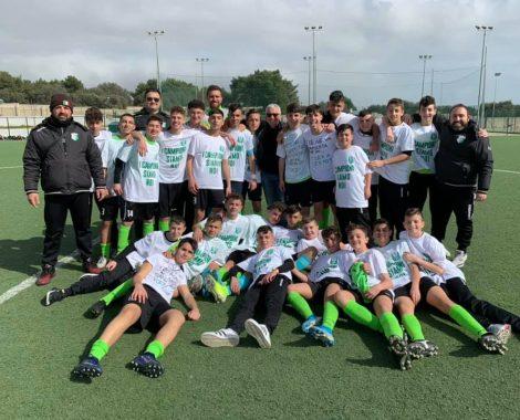 Albo d'oro Under 15 Cryos campioni del girone F